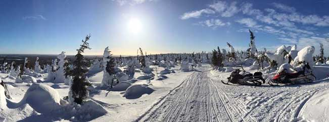 viajes finlandia moto nieve 1