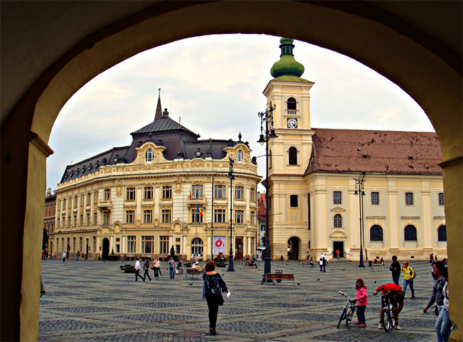 viajes rumania sibiu downtown
